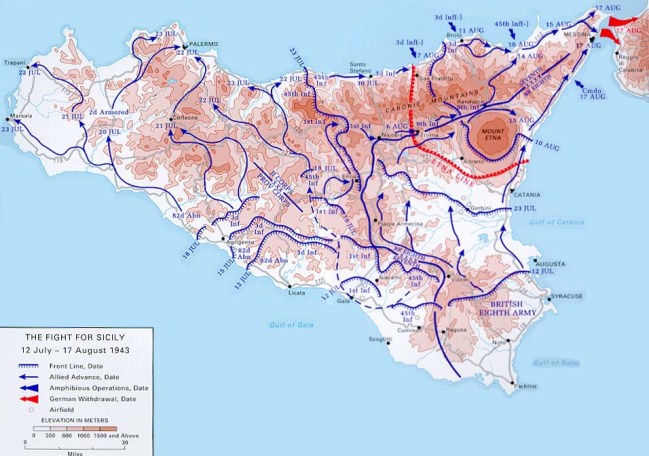 Sicily map U.S. Army Center of Military History