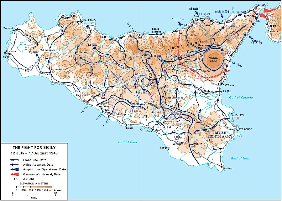 Campagna Sicilia Alleati, 1943