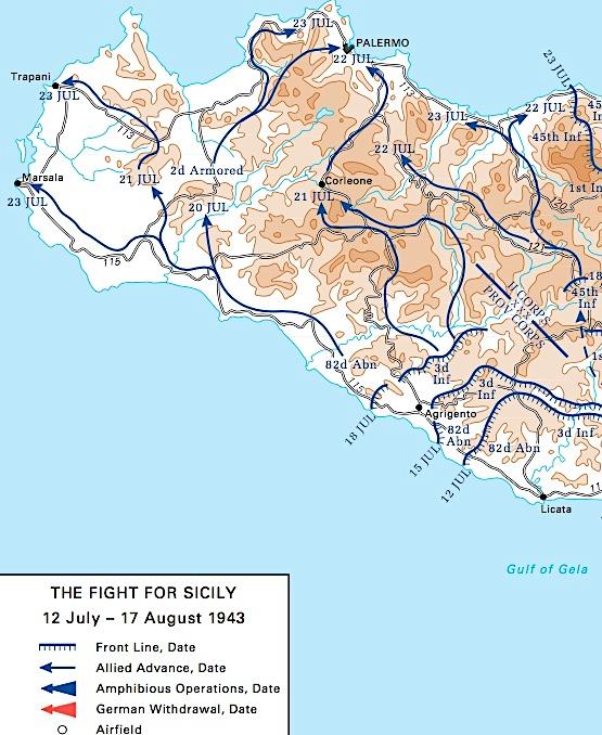Linea Fronte Sic. Occ. 1943